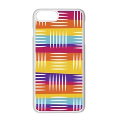 Background Line Rainbow iPhone 8 Plus Seamless Case (White)
