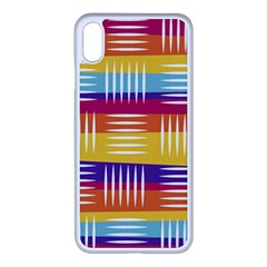 Background Line Rainbow iPhone XS Max Seamless Case (White)