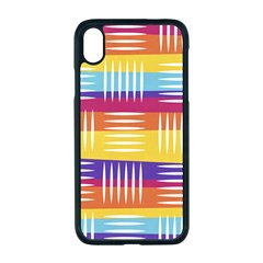 Background Line Rainbow Iphone Xr Seamless Case (black)