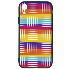 Background Line Rainbow iPhone XR Soft Bumper UV Case
