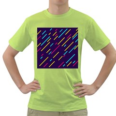 Background Lines Forms Green T Shirt by HermanTelo