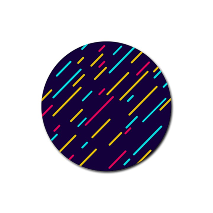 Background Lines Forms Rubber Round Coaster (4 pack)