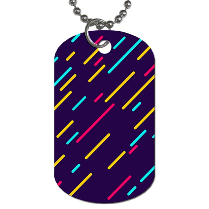 Background Lines Forms Dog Tag (One Side)