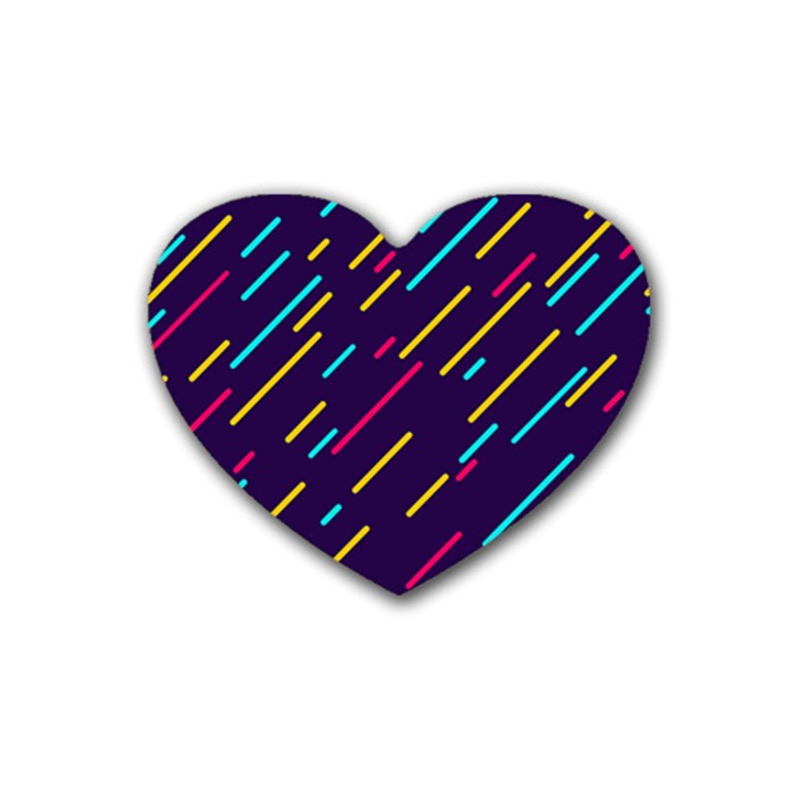 Background Lines Forms Heart Coaster (4 pack)