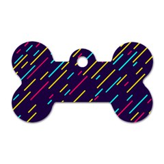 Background Lines Forms Dog Tag Bone (two Sides)