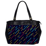 Background Lines Forms Oversize Office Handbag Front