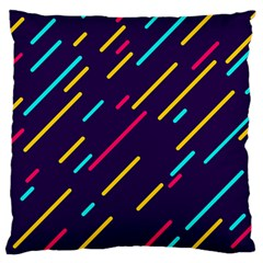 Background Lines Forms Large Cushion Case (one Side) by HermanTelo