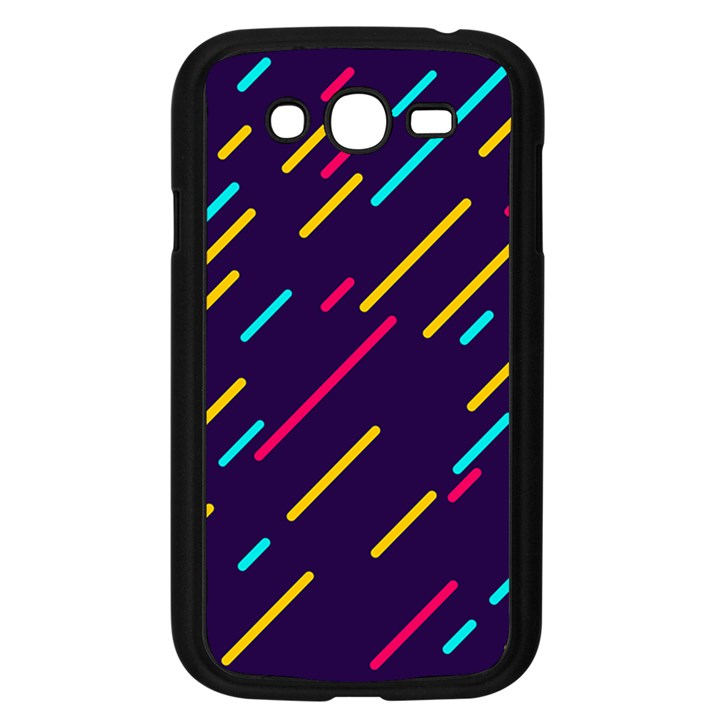 Background Lines Forms Samsung Galaxy Grand DUOS I9082 Case (Black)