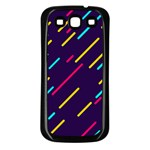 Background Lines Forms Samsung Galaxy S3 Back Case (Black) Front