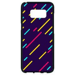 Background Lines Forms Samsung Galaxy S8 Black Seamless Case