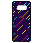 Background Lines Forms Samsung Galaxy S8 Black Seamless Case Front