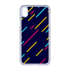 Background Lines Forms Iphone Xr Seamless Case (white)