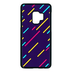 Background Lines Forms Samsung Galaxy S9 Seamless Case(black) by HermanTelo