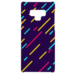 Background Lines Forms Samsung Note 9 Black Uv Print Case  by HermanTelo