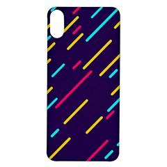 Background Lines Forms Iphone X/xs Soft Bumper Uv Case