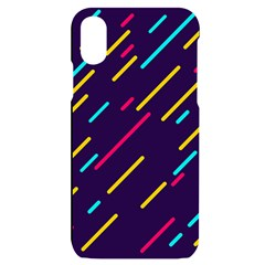 Background Lines Forms Iphone X/xs Black Uv Print Case