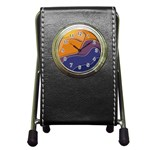 Autumn Waves Pen Holder Desk Clock Front