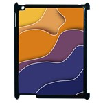 Autumn Waves Apple iPad 2 Case (Black) Front
