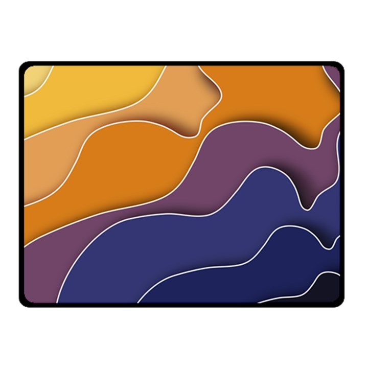 Autumn Waves Double Sided Fleece Blanket (Small)