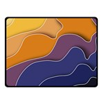 Autumn Waves Double Sided Fleece Blanket (Small)  45 x34  Blanket Back