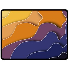 Autumn Waves Double Sided Fleece Blanket (large)  by HermanTelo