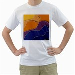 Autumn Waves Men s T-Shirt (White)  Front
