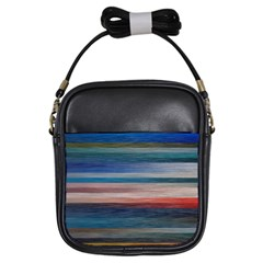 Background Horizontal Lines Girls Sling Bag by HermanTelo