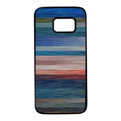 Background Horizontal Lines Samsung Galaxy S7 Black Seamless Case by HermanTelo