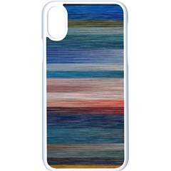 Background Horizontal Lines Iphone Xs Seamless Case (white)
