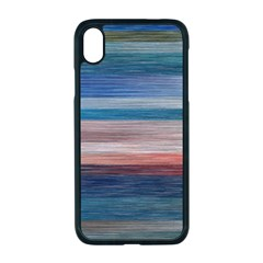 Background Horizontal Lines Iphone Xr Seamless Case (black)