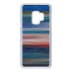 Background Horizontal Lines Samsung Galaxy S9 Seamless Case(white)