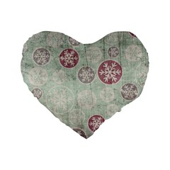 Background Christmas Vintage Old Standard 16  Premium Heart Shape Cushions