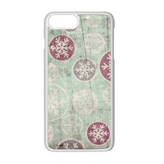 Background Christmas Vintage Old Iphone 8 Plus Seamless Case (white)