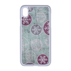 Background Christmas Vintage Old Iphone Xr Seamless Case (white)