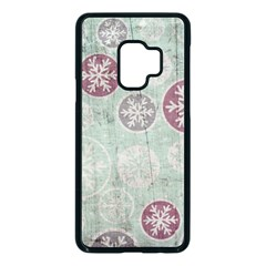 Background Christmas Vintage Old Samsung Galaxy S9 Seamless Case(black)