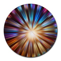 Background Spiral Abstract Round Mousepads