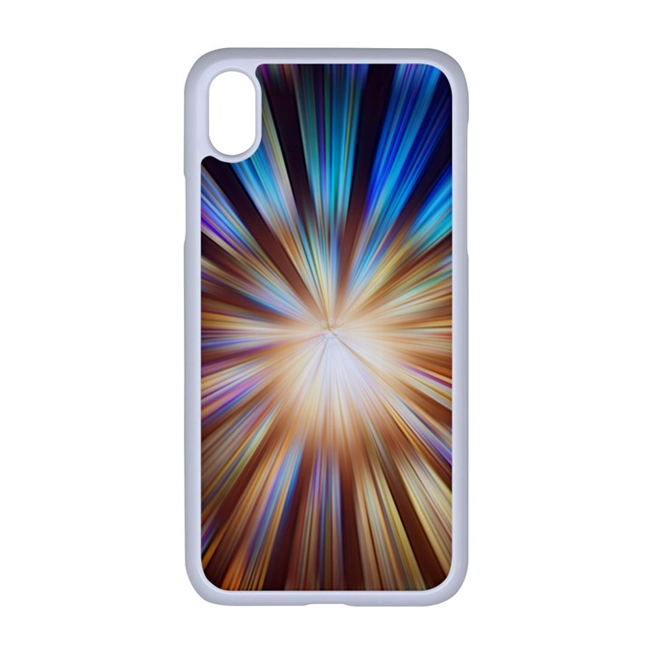 Background Spiral Abstract iPhone XR Seamless Case (White)