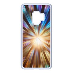 Background Spiral Abstract Samsung Galaxy S9 Seamless Case(white)