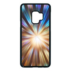 Background Spiral Abstract Samsung Galaxy S9 Seamless Case(black)