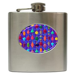 Background Stones Jewels Hip Flask (6 Oz) by HermanTelo