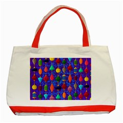 Background Stones Jewels Classic Tote Bag (red) by HermanTelo