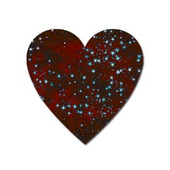 Background Star Christmas Heart Magnet by HermanTelo
