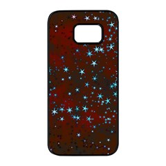 Background Star Christmas Samsung Galaxy S7 Edge Black Seamless Case by HermanTelo