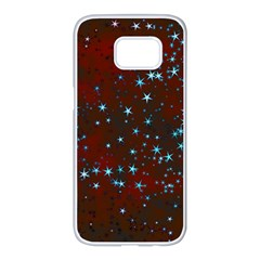 Background Star Christmas Samsung Galaxy S7 Edge White Seamless Case by HermanTelo
