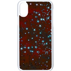 Background Star Christmas Iphone X Seamless Case (white)