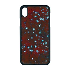 Background Star Christmas Iphone Xr Seamless Case (black)