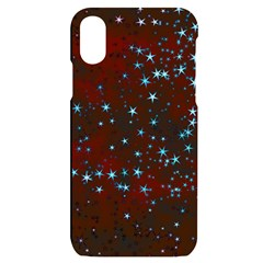 Background Star Christmas Iphone X/xs Black Uv Print Case