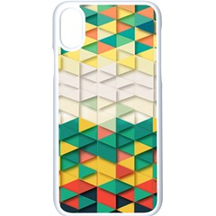 Background Triangle Iphone X Seamless Case (white)