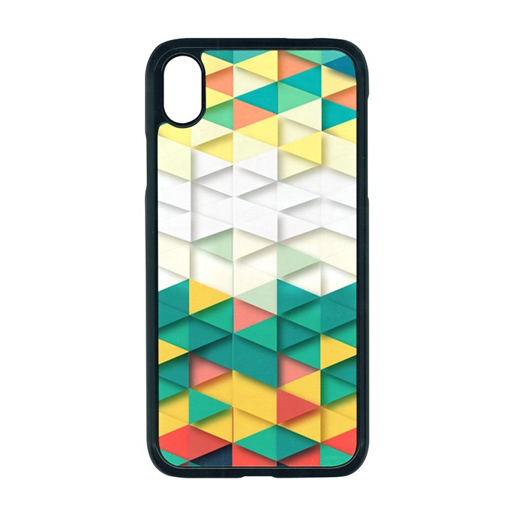 Background Triangle iPhone XR Seamless Case (Black)