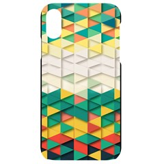 Background Triangle Iphone Xr Black Uv Print Case